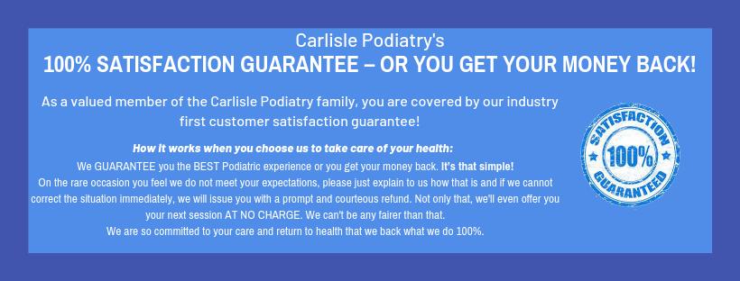 Carlisle's 100% Satisfaction Guarantee